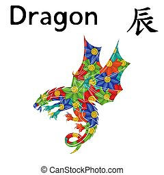 zodiac, meldingsbord, oostelijk, draak