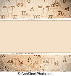 Zodiac Retro Background