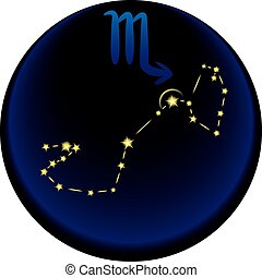 Zodiac Scorpio Sign - Scorpio constellation plus the Scorpio...