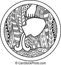 Zodiac sign Aquarius - Vector illustration of abstract...