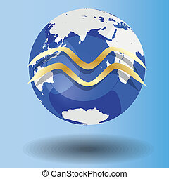 zodiac sign Aquarius - Illustration of Zodiac symbol...