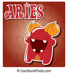Zodiac sign Aries, moster