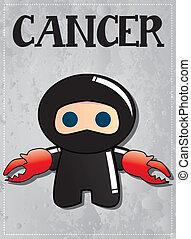 Zodiac sign Cancer ninja - Zodiac sign Cancer with cute ...