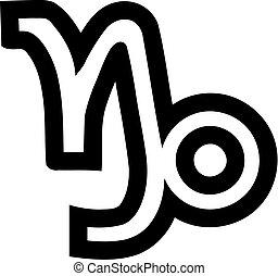 Zodiac sign capricorn outline