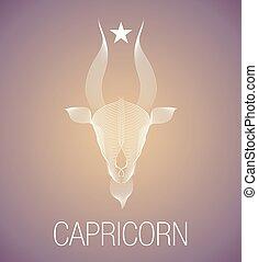 Zodiac Sign. Capricorn. Vector Illustration