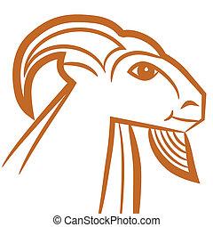Zodiac sign - Capricorn - Zodiac sign Capricorn logo, icon...