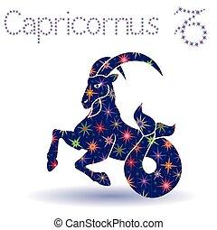 Zodiac sign Capricornus stencil