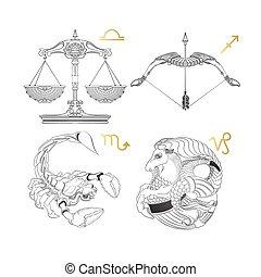 Zodiac Sign. Libra Sagittarius Scorpio Capricorn.