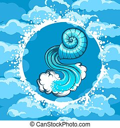 Zodiac Sign of Aquarius in Air Circle