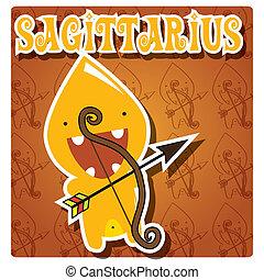 Zodiac sign Sagittarius monster