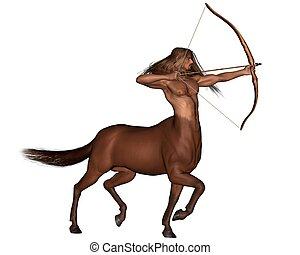 Zodiac sign - Sagittarius - Sagittarius the centaur archer...