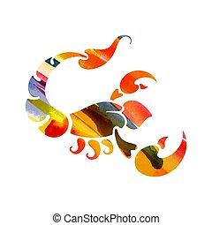zodiac sign Scorpio. vector illustration