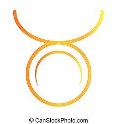 zodiac sign taurus astrology calendar mystic gradient style icon