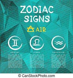 zodiac signs-04 - Zodiac signs according to Air element:...