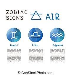 zodiac signs-07 - Zodiac signs according to Air element:...