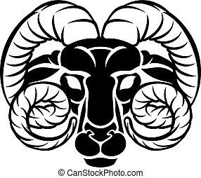 Zodiac Signs Aries Icon