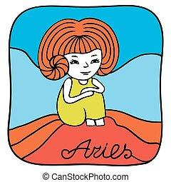 Zodiac signs Aries.