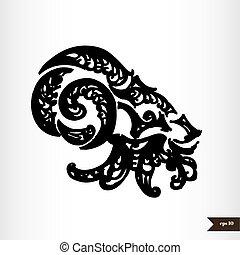 Zodiac signs black and white - Capricorn