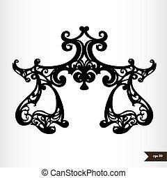 Zodiac signs black and white - Libra