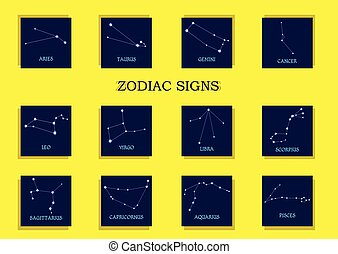 Zodiac signs Horoscope set