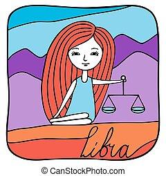 Zodiac signs Libra.