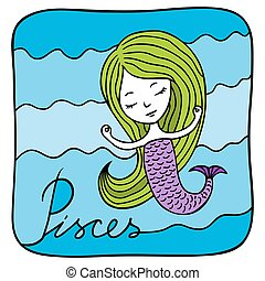 Zodiac signs Pisces.