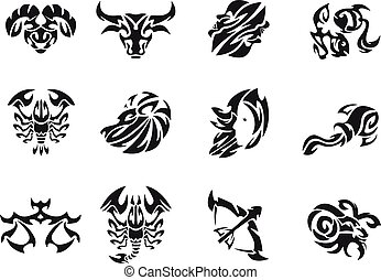 Zodiac signs sets