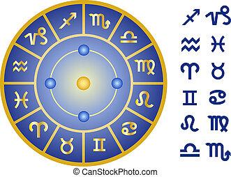 zodiac signs, vector icon set