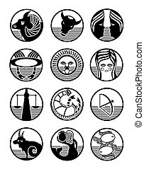 zodiac signs vector illustration