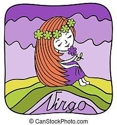 Zodiac signs Virgo.