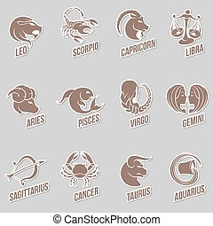 Zodiac Star Signs Sticker Designs