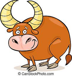 Zodiac taurus - Cartoon illustration of zodiac taurus