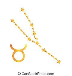 zodiac taurus constellation astrological gradient style icon