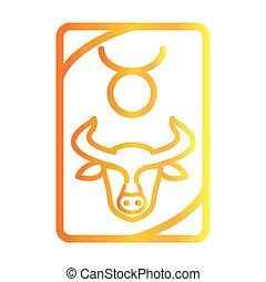 zodiac taurus esoteric tarot prediction card gradient style icon