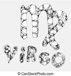 zodiac vector sign drawn virgo