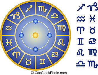 zodiac, vector, tekens & borden, set, pictogram