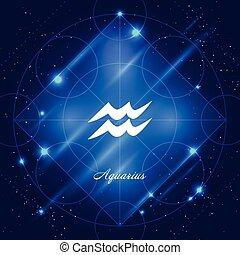 zodiac, waterman, meldingsbord