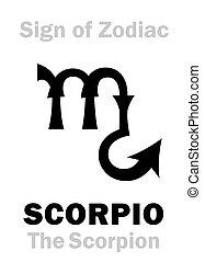 zodiaco, scorpione, scorpion), (the, astrology:, segno