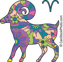 zodiak, aries, znak