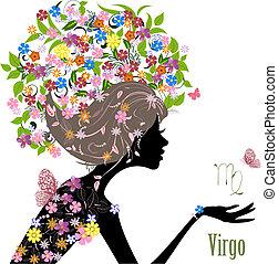 zodiak, fason, znak, dziewczyna, virgo.
