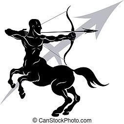 zodiak, znak, sagittarius, horoskop, astrologia