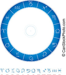 zodiaque, calligraphie, astrologie