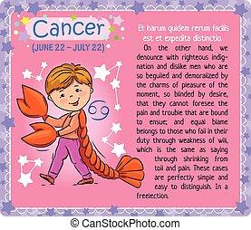 zodiaque, cancer, gosse