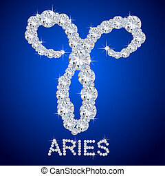 zodiaque, diamant, bélier