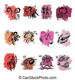 zodiaque,  horoscope, signes