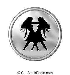 zodiaque, signe, jumeau