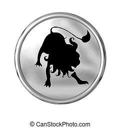 zodiaque, signe, lion