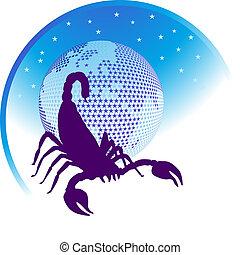 zodiaque, signe, scorpion