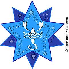 zodiaque, signe, scorpion, scorpion