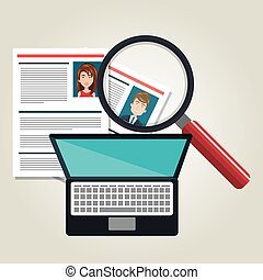 zoeken, leerplan, ontwerp, menselijk, technologie, middelen